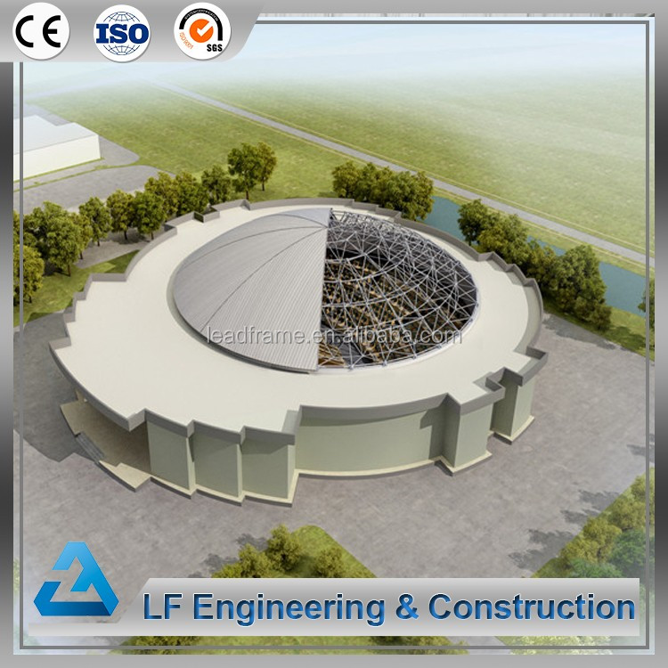 Long span steel dome space frame prefabricated shopping mall