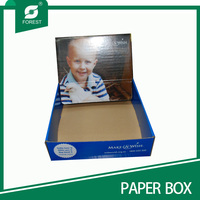 Stand up full printed display box for baby shoe
