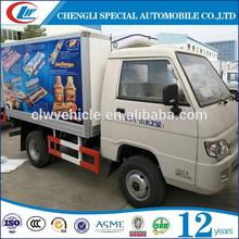 New design 1.5ton foton truck refrigerated cold room van truck with great price