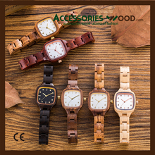 2017 Japan Quartz Movement vogue 2115 wood watch for women