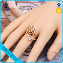 high quality shining gold pearl rings jewellery for women