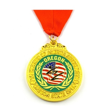 Factory Hot Selling Customised Personalized Embossed Medal Karate