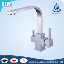 Dual Handle Brass Kitchen Sink 3 Way Drinking Water Purifier Faucet