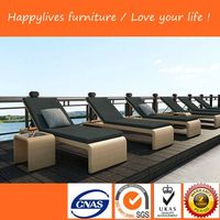 HL-2041 Outdoor furniture sunbed rattan/wicker Made In China