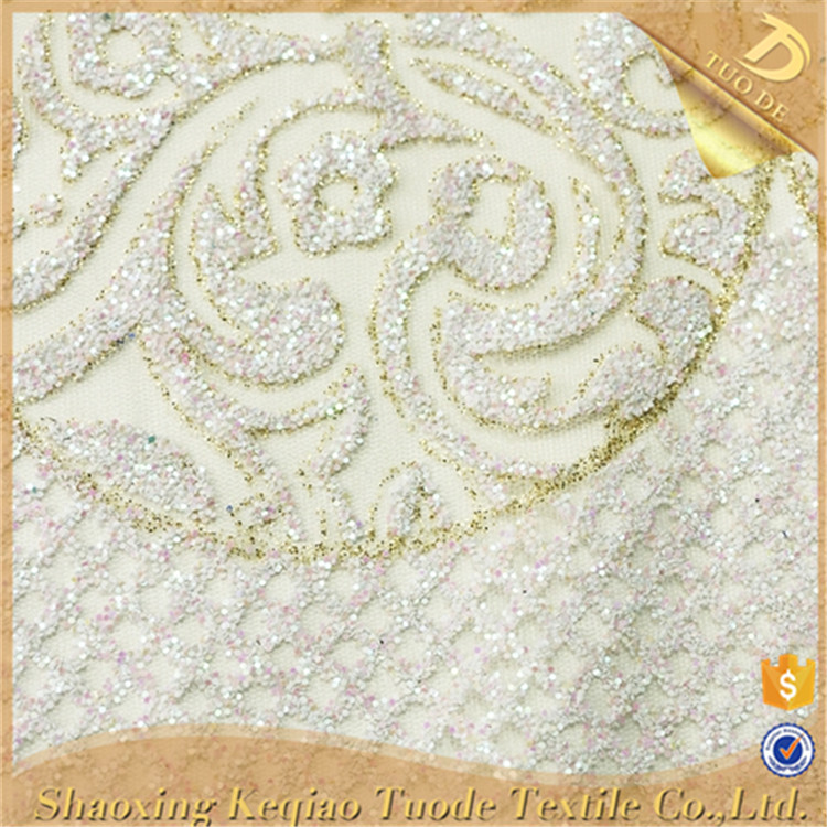 Factory Direct Sales Glitter Powder Swiss Lace Embroidered Mesh Fabric
