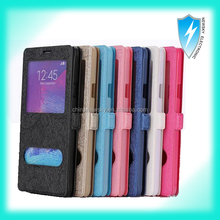 Dual Window View Sleep/Wake Flip Cover Open Window leather case for Samsung Galaxy Note 3