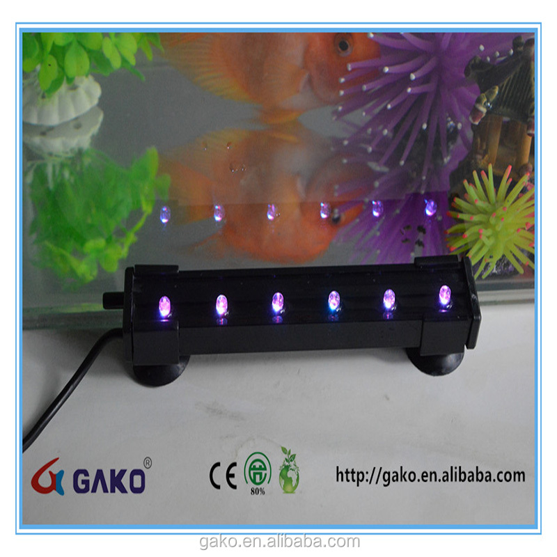 Underwater Aquarium Fish Tank Air Bubble Pump LED Light for Ornamental Fish