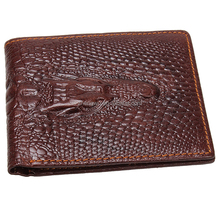Iblue WA012 Crocodile Embossed Genuine Leather Men Wallet Purse Wholesale