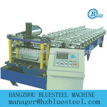Full-automatic PLC Control Painted Steel Cold Roll Forming Machine / Self Lock-tile Production LIne