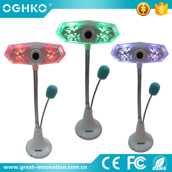 Colorful light factory price USB computer webcam