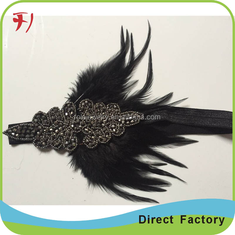 Adults Mardi Gras Fancy Dress Party Carnival/Christmas Accessory Ladies Feather Headband Headdress