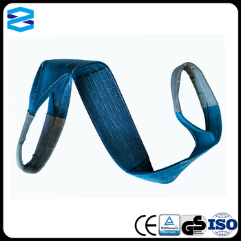 High Quality 8 ton flat webbing sling with EC certificate Polyester lifting sling