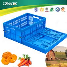 ZJKS604024W-1hot restaurant sundries cloth storage moving gas injection folding stackable plastic/crate/container/bin/case