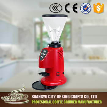 Shangyu jiexing ABS hopper Commercial Automatic burr coffee grinder for espresso