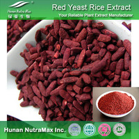 Hot Selling Red Yeast Rice Extract , Red Yeast Rice Powder Monacolin K , Red Yeast Rice P.E.