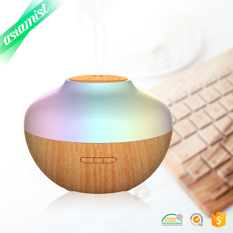 Aroma Mist Ultrasonic Essential Oil 300ml wooden electric aroma diffuser