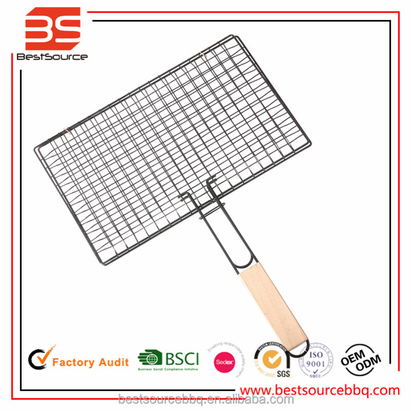LFDA & FDA Approval Stainless Steel Double Barebecue grill wire mesh bbq Grill Net