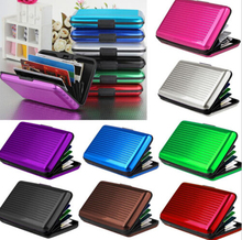 Mini RFID Aluminum Wallet Credit Cards Holder Metal ID Case for Men Women