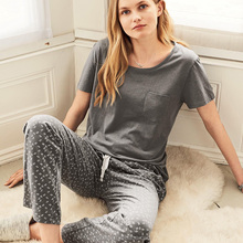 Ladies Pyjama Set Women Trousers Femme