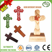 Decorative Small Handmade Crafts Olive Wooden Crosses Sales