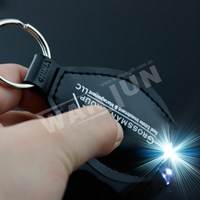LED Leather Material and Keychain Type Key Chain