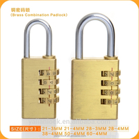 China -made High security Solid Brass 4 Digits Combination Solid Brass Padlock