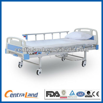CE,ISO Steel Single Function Manual Bed