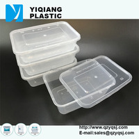 YQ385 rectangular 500ml clear plastic food disposable container