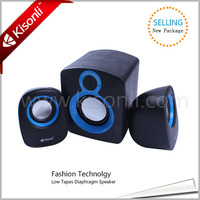 2015 High Quality Multimedia Speaker 2.1 With Mic Input