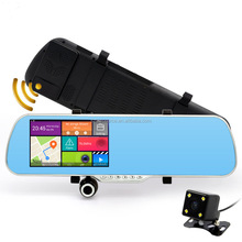 "5.0"" Touch Android Car DVR Camera Radar Detectors Dash Camera Parking car dvrs Rearview Mirror Video Recorder gps Navigator"