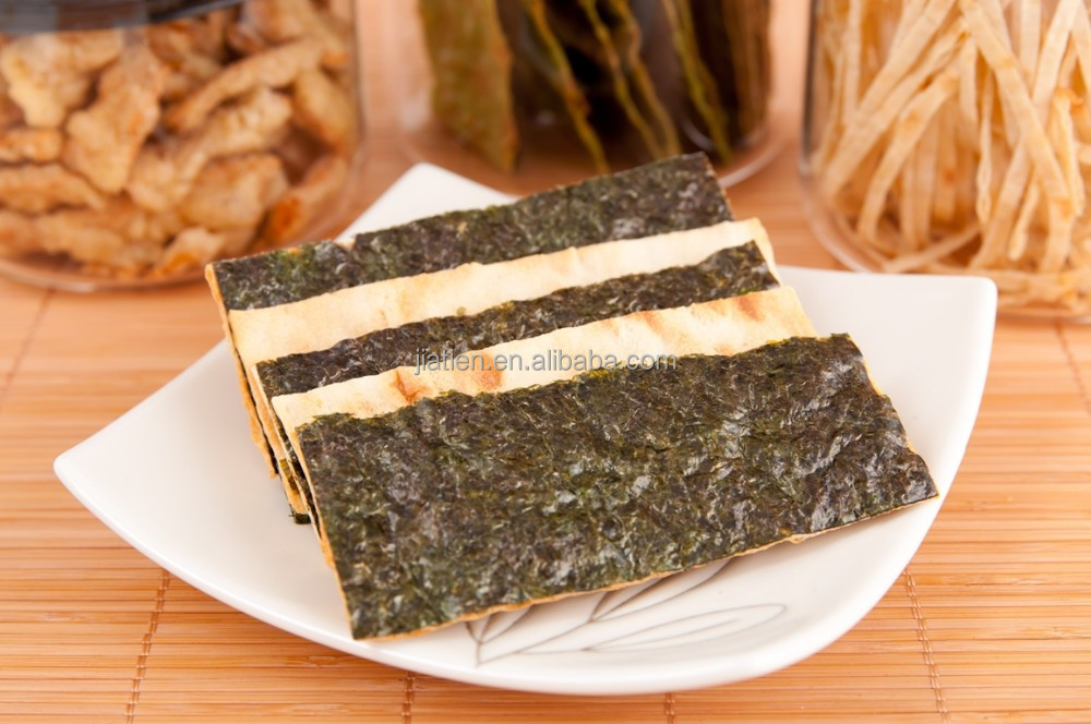 Taiwan seafood, Crispy and dried fish snack with Seaweed