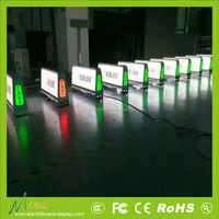 Truck Mobile Advertising Led Display Outdoor Taxi Top Roof taxi roof signs car window led signs advertising led