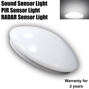 e27 cool white day night voice activated led pir rader sensor ceiling light bulb lamp downlight with timers 3w7w in electronic