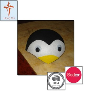 2015 Cute Animal Penguin Shape Party Hats and Felt Hats for Children