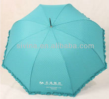 Dots Printing 23 Inch 8 Ribs Popular Curved Handle Straight Dome Shape Chinese Souvenir Umbrella