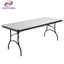 XYM furniure professional Iron frame PVC banquet folding table