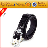 Top Branded Luxury And Strong Office Lady Real Leather Belts Alloy Bunckle