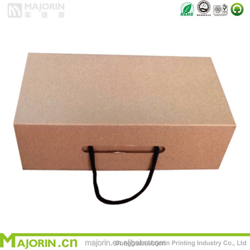 Majorin wholesale recycled kraft paper box for shoes