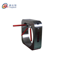304 stainless steel electronic pedestrian tripod turnstile with rfid reader Access Control Pedestrian Tripod Turnstile