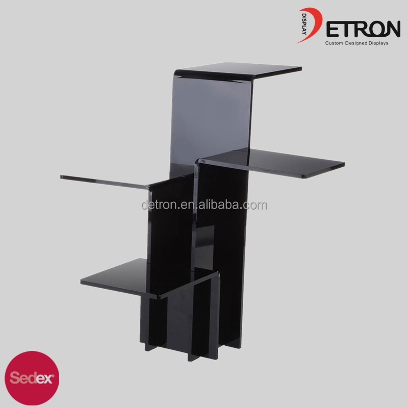 Elegant 4-Tiered Pedestal display block riser acrylic display stand