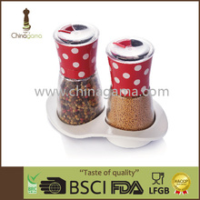 red dot 6OZ 170ml Food Grade manual colorful pepper mill set