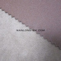 china textile factory supply 100% polyester suede fabric