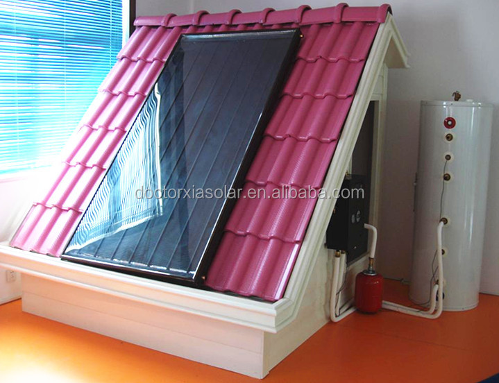 Safe 100L split flat panel solar water heater of high pressure