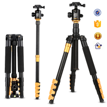 Pro photography and video dslr digital aluminum tripod with ball head quick release plate flip leg lock