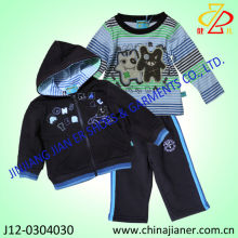 cute design children clothes boy casual hoodie 3pcs set