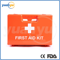 12% Off THB - 004 portable ABS plastic first aid kit box with hands for home , workplace, school and car