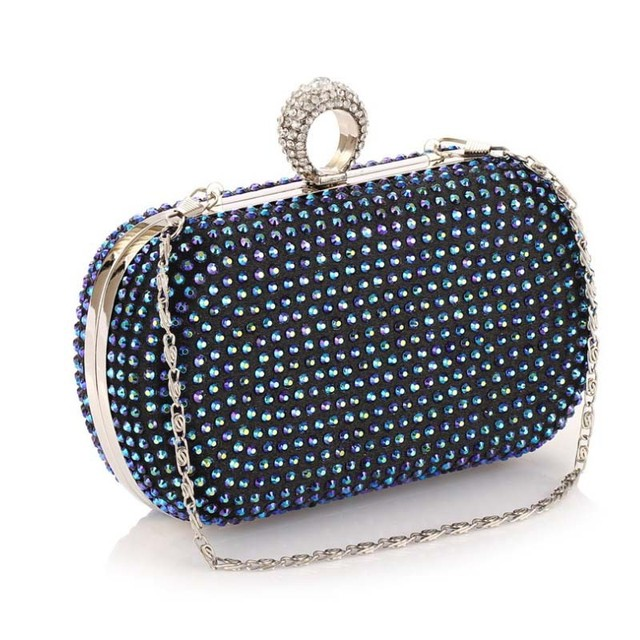 Bz8027 hefei mosen Business diamond dinner bag Korean shiny diamond women banquet phone bags