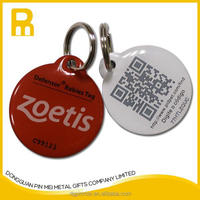 New tech Laser engraved QR code pet id collar tag