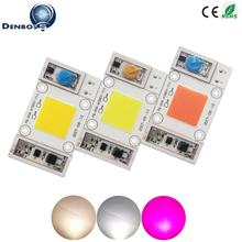 AC COB LED Lamp Chip 110V 220V High Power 20W 30W 50W Warm whiteSmart IC Driverless full spectrum LED Bulb Flood Light