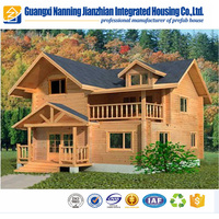 Steel frame Best quality prefab house wooden log villas